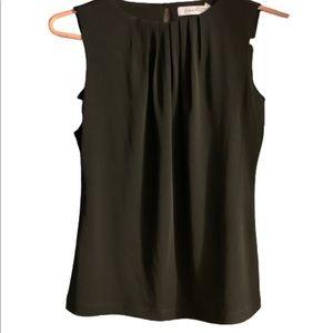Calvin Klein 2P Black Tank Blouse Women Top Shirt